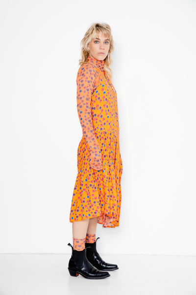 Crush Dress | Baby Bright Faces Print