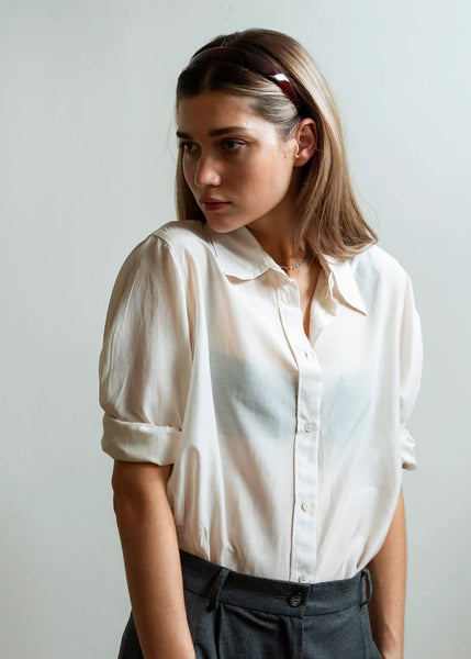 Billow Sleeve Shirt | Eggshell