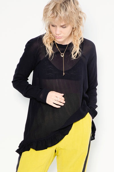 So Fast Sweater | Black Georgette