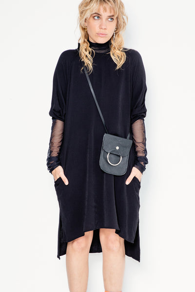 Radio Song Dress | Black Twill