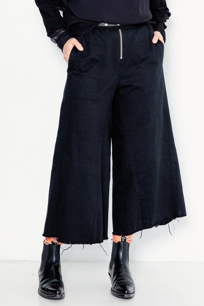 Shiny Happy People Pants | Black Denim