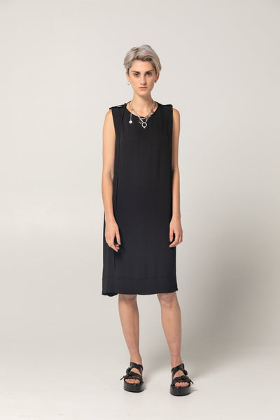 Free Dress | Black Twill