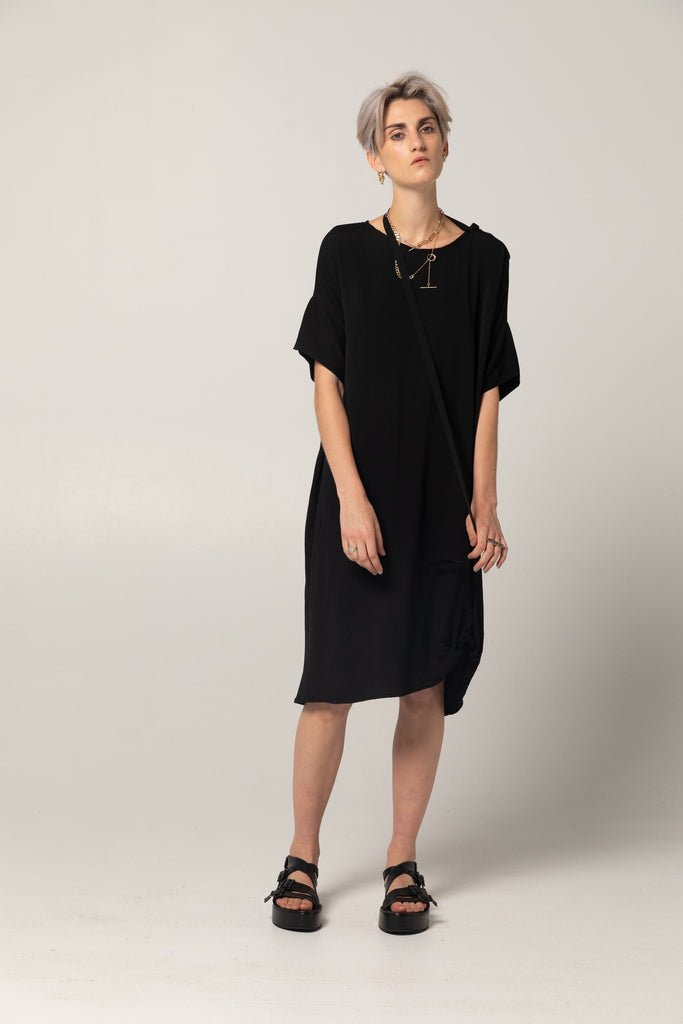 Holiday Dress | Black Twill - Company Store