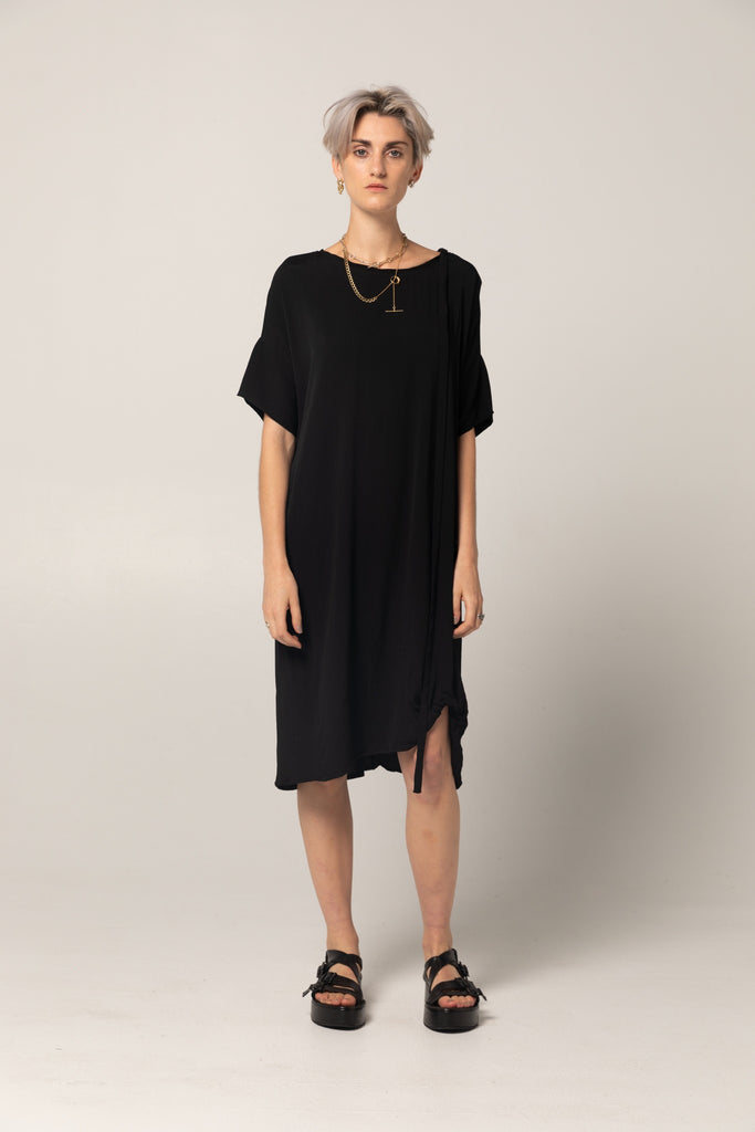 Holiday Dress | Black Twill