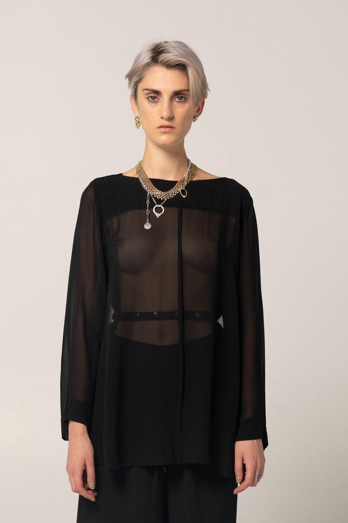 Shadow Shirt | Black Silk - Company Store