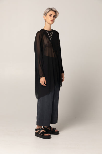 Memory Tunic | Black Silk