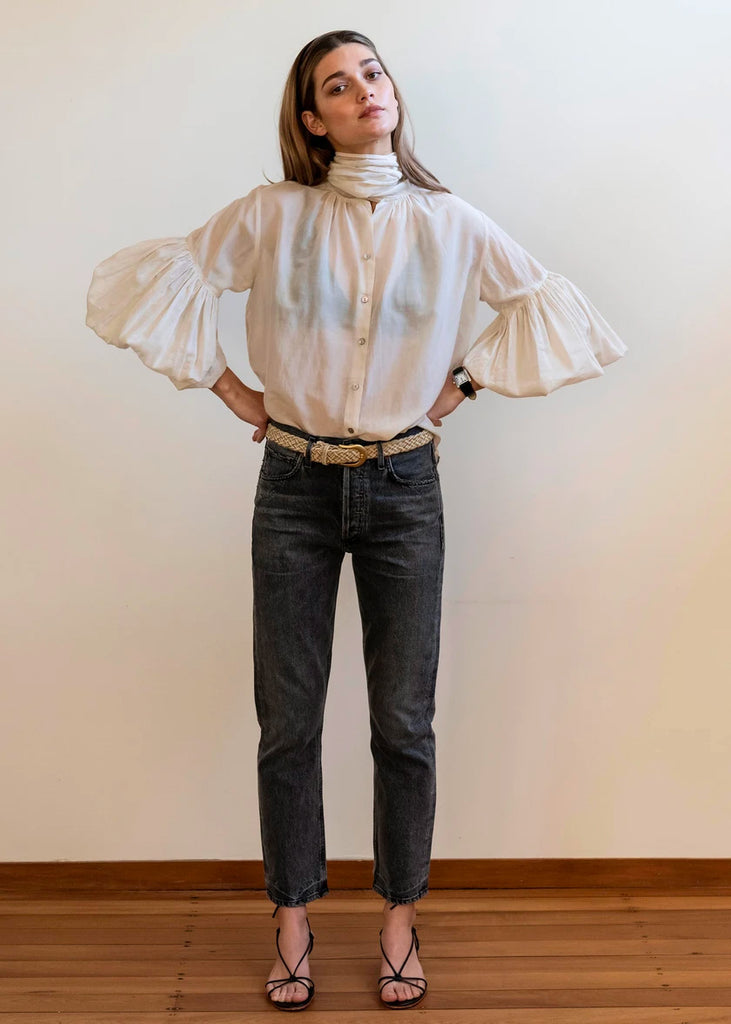 Bow Blouse | Eggshell