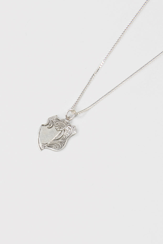 Broken Medal Necklace- Silver - Company Store
