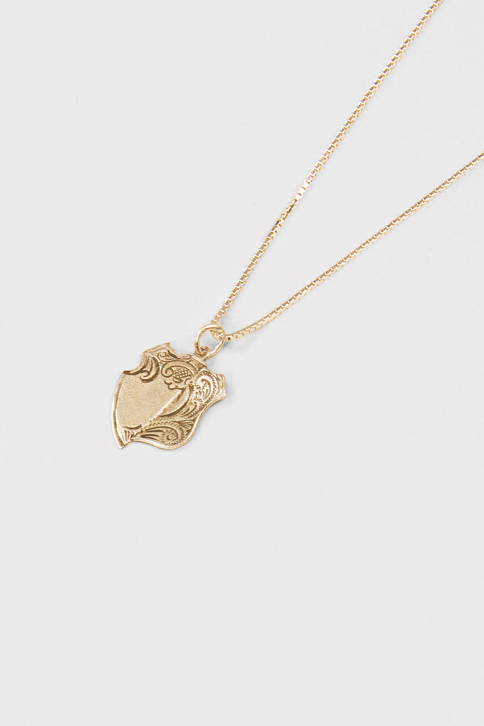 Broken Medal Necklace- Gold Dip
