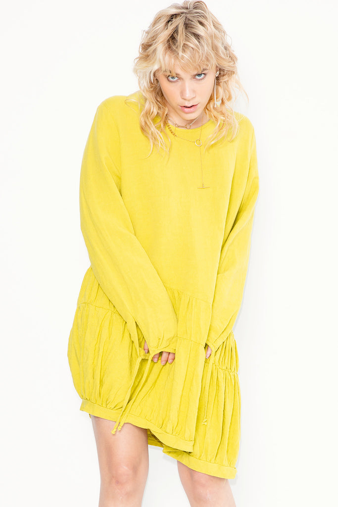 Electrolite Top | Chartreuse Linen - Company Store