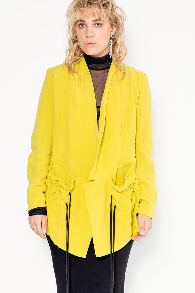 Night Swimming Jacket | Chartreuse Linen
