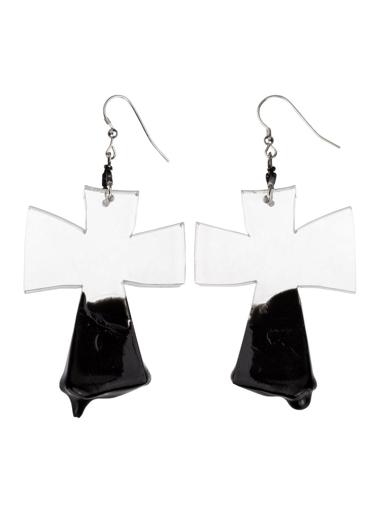 Slime Cross Earrings
