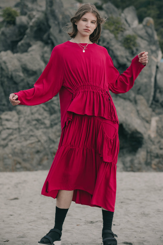 Crush Dress | Fuchsia Twill