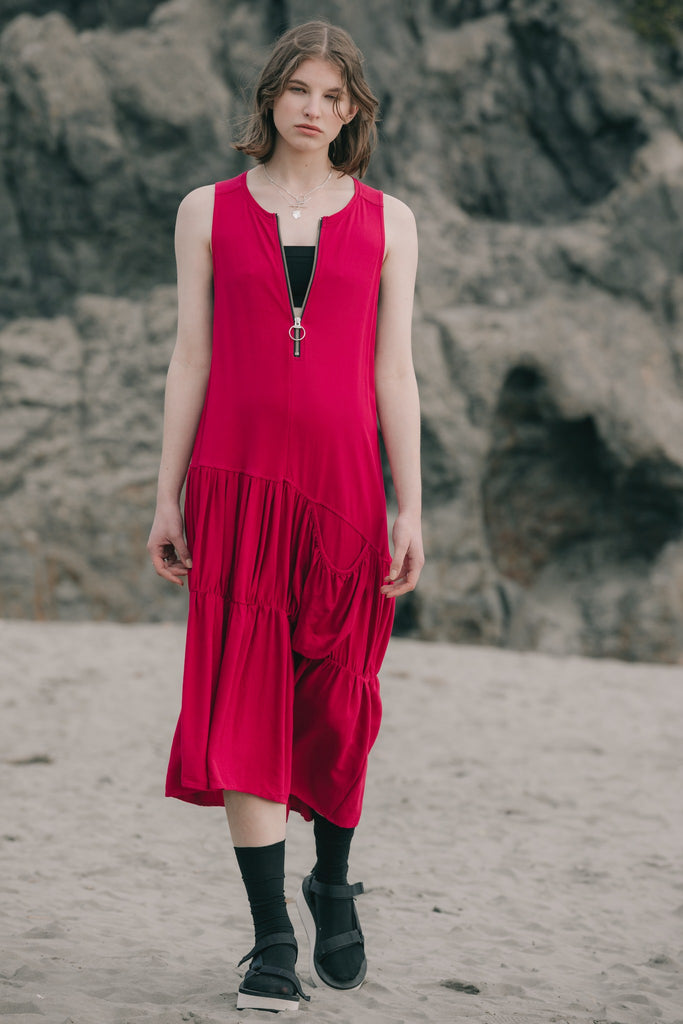 Crush Dress | Fuchsia Twill - Company Store