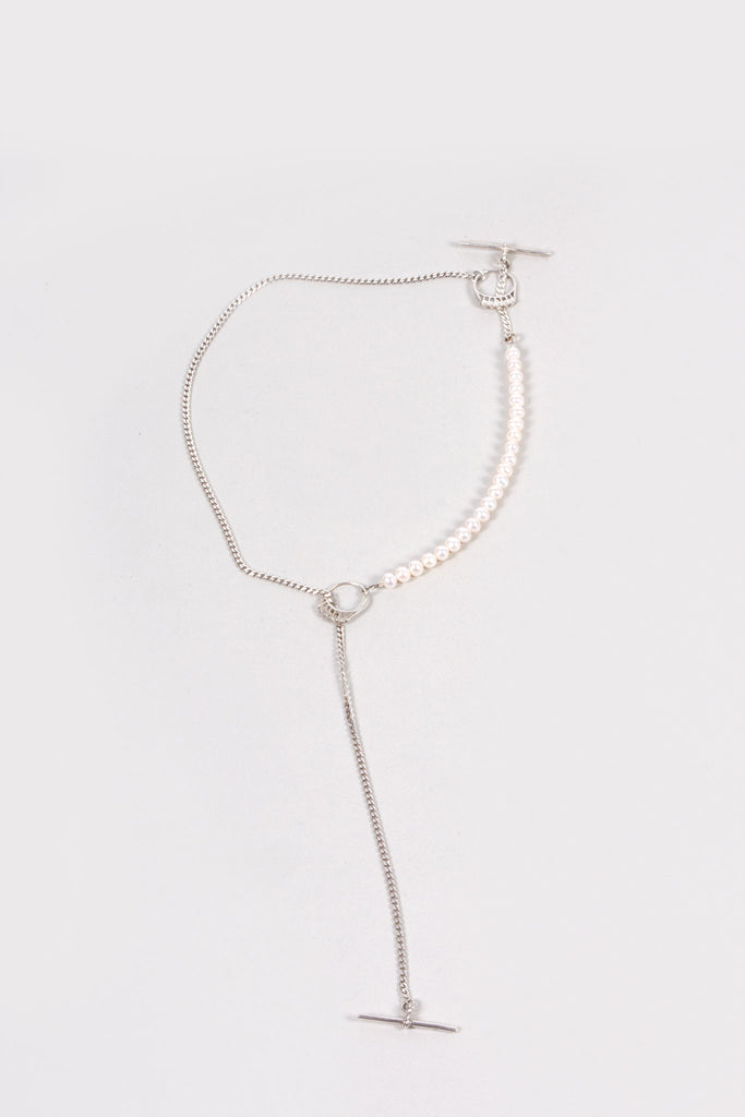 Diamonds & Pearls Necklace - White Pearls