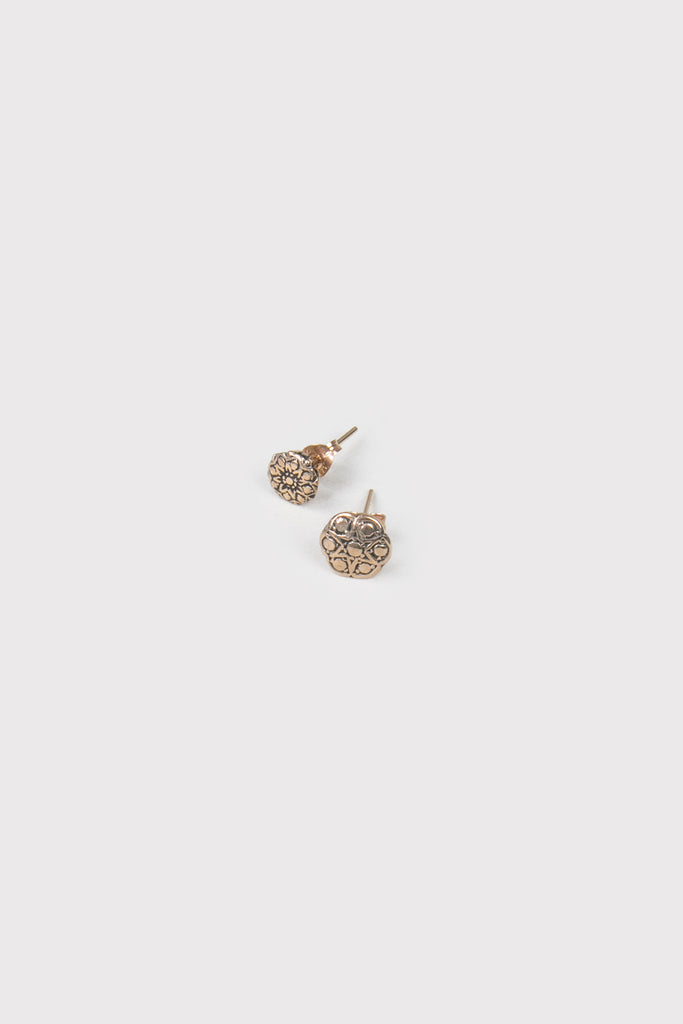 engagement studs rose gold - company of strangers