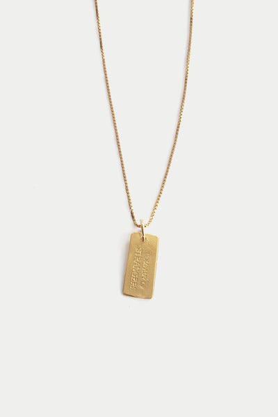 Heritage Tag Necklace | Gold