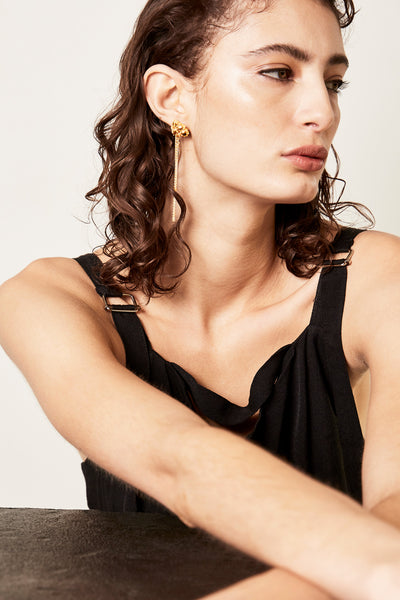 Lady Chain Earrings | Gold