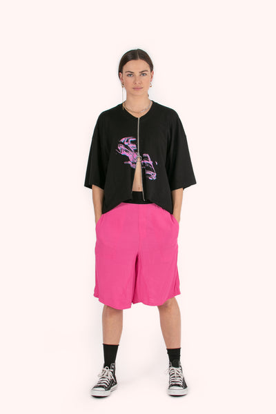 Louisiana Culottes | Miami Pink Twill