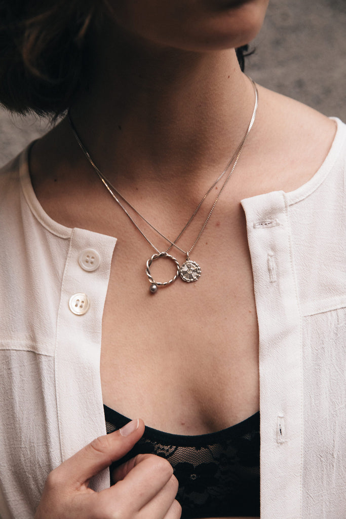 Medallion Necklace | Sterling Silver