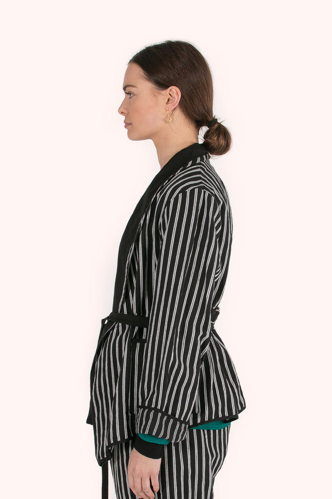 Memphis Jacket | Black Stripe