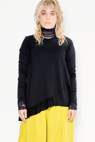 So Fast Sweater | Black Merino