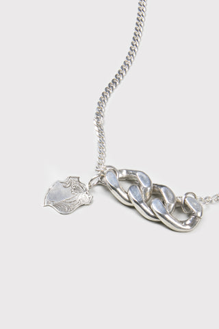 Oversize Chain Necklace- Silver