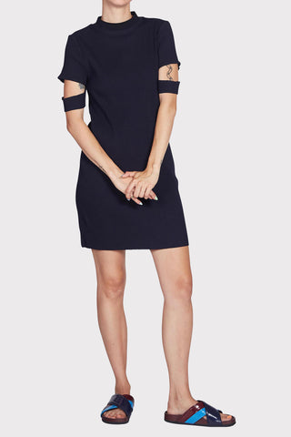 Pitch and Direction Rib Dress