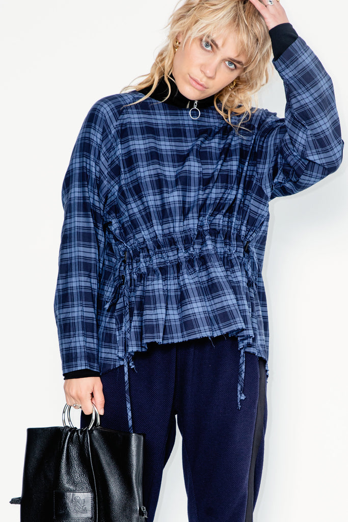 Belong Sweater | Cotton Plaid - Company Store