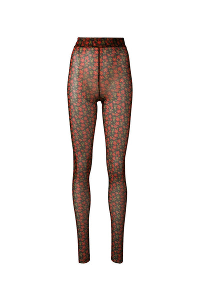 Pollen Turtle Tights | Rust Flower