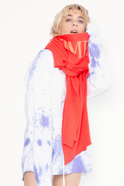 Blame Scarf | Red/Peach