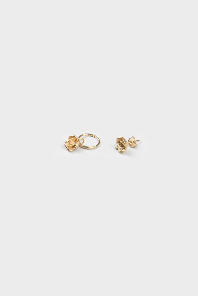 rosebud earrings- gold plated - company of strangers