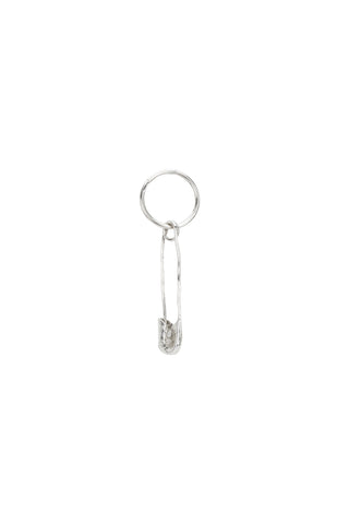 Safety Pin Charm Sleeper- Silver