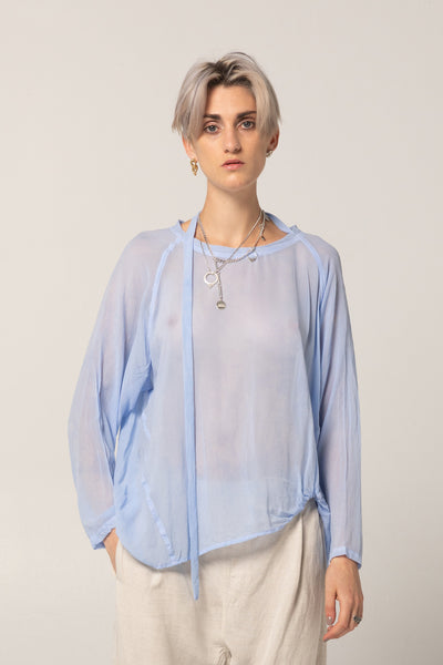 Bends Sweater | Sky Blue Silk