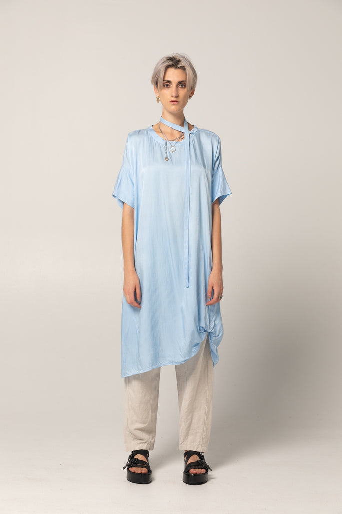 Holiday Dress | Sky Blue Twill - Company Store