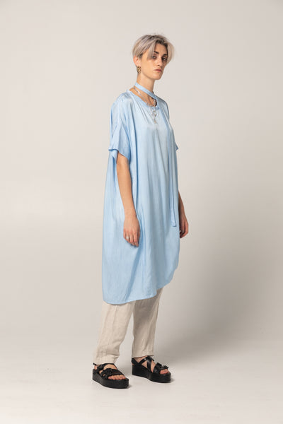 Holiday Dress | Sky Blue Twill