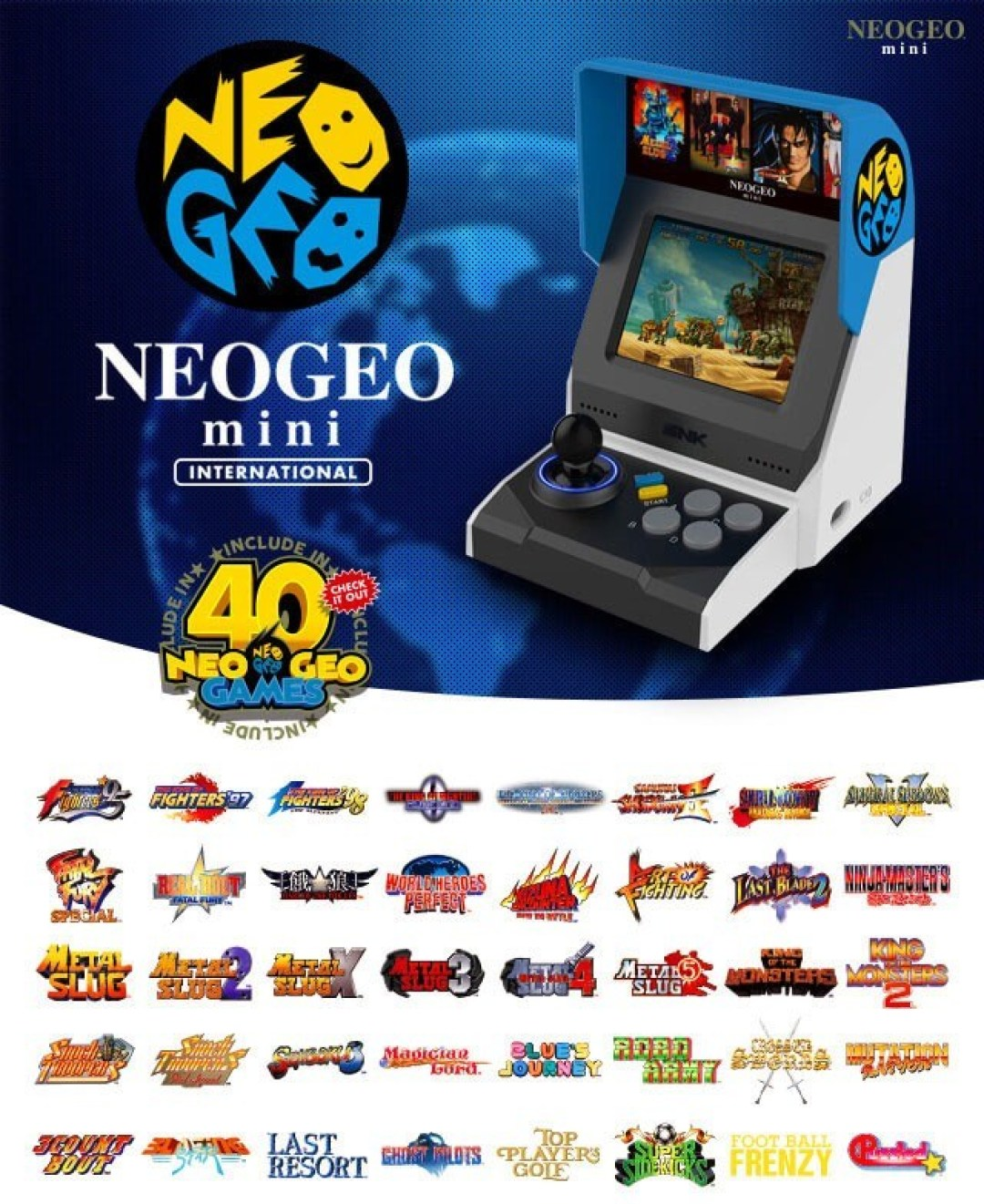 SNK NeoGeo Mini With 40 Games (Ships October)