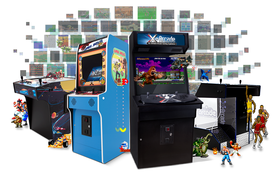 X-Arcade Machine Cabinets With 250 Games
