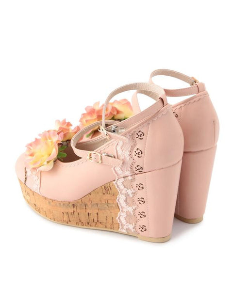 Rose Clip Lace Heels