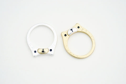Bear Face Ring