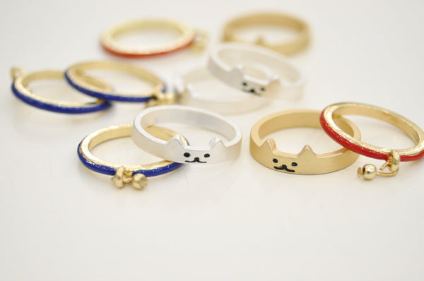 Cat & Collar Ring Set