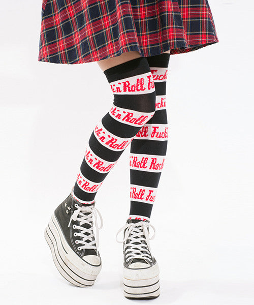 F*ck-n-Roll Thigh High Socks