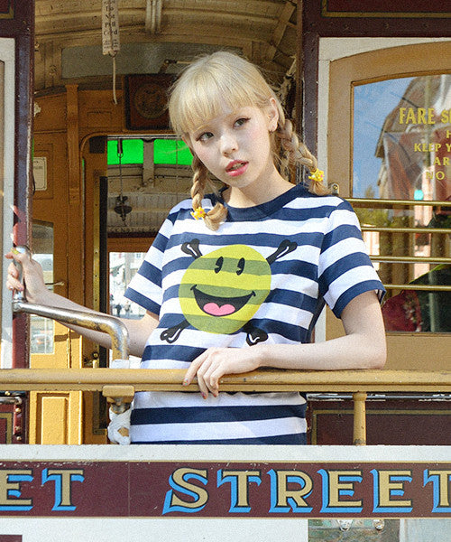 Pirate Smiley Stripe Tee