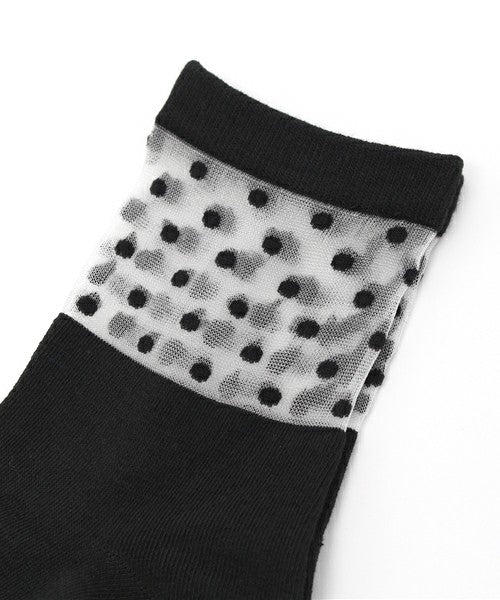 Sheer Polka Dot Socks