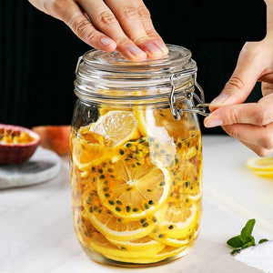 Mason Candy Jar for Spices Glass Transparent Container Glass Jars with Lids Cookie Honey Kitchen Food Sealed Cans - waseeh.com