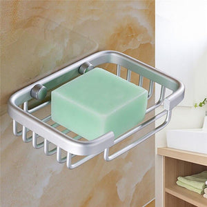 Space aluminum soap box bathroom toilet racks Sifang soap net round soap rack bathroom supplies Tray Dish Storage Holder - waseeh.com