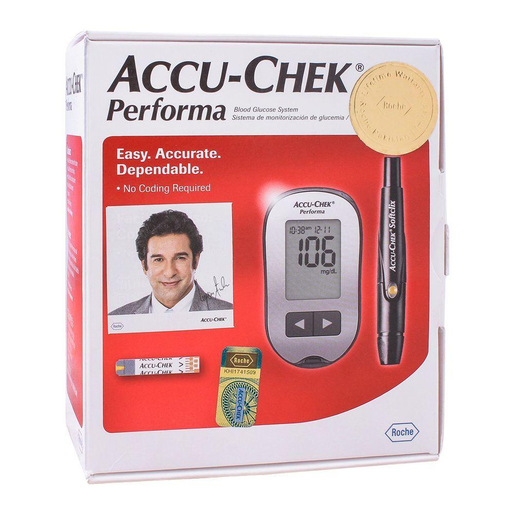 Accu-Chek Performa Meter & Lancing Device + 10 Test Strips - waseeh.com