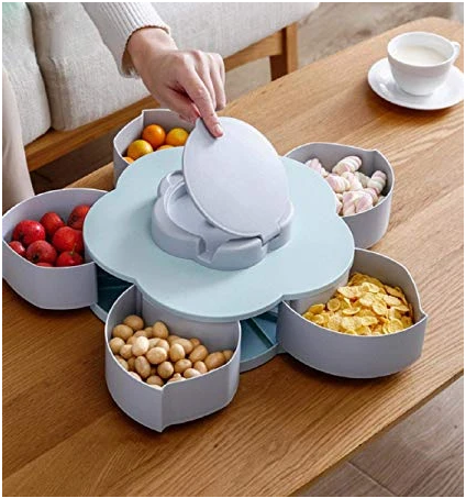 Blossom Petal Dry Fruit Tray With Mobile Stand - waseeh.com