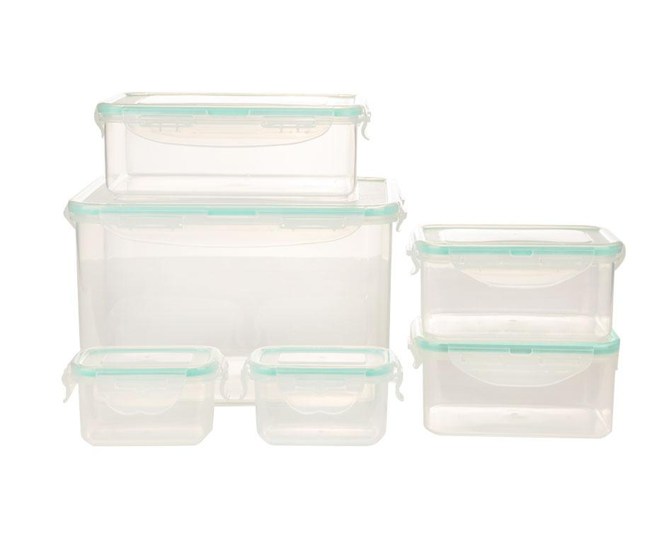 Rectangle Food Container Set - Pack of 16 Pcs - waseeh.com