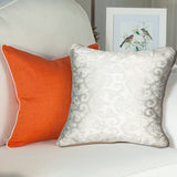 Contemporary Floral Self Print Cushion Cover - Throw Pillow Cover - waseeh.com